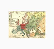 Vintage Linguistic Map of Europe (1907) Unisex T-Shirt