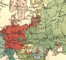 Vintage Linguistic Map of Europe (1907) Sticker