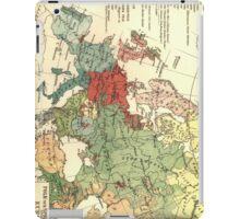 Vintage Linguistic Map of Europe (1907) iPad Case/Skin
