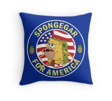 Spongegar for President Throw Pillow