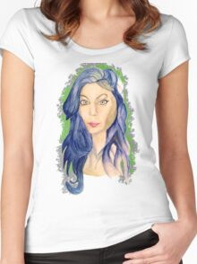 watercolor Women's Fitted Scoop T-Shirt
