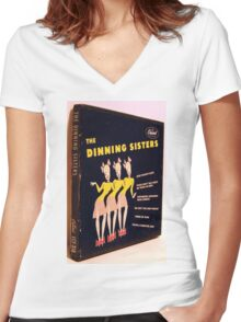 "Dinning Sisters, 7"" 45 box set from early 50's, Swing Women's Fitted V-Neck T-Shirt"