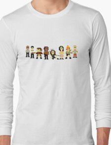Firefly pixels Long Sleeve T-Shirt