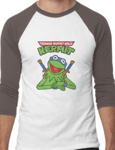 Teenage Muppet Ninja Kermit Men's Baseball ¾ T-Shirt