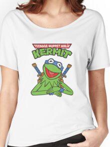 Teenage Muppet Ninja Kermit Women's Relaxed Fit T-Shirt