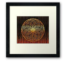 Color Wire Circle Mix Framed Print