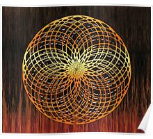 Color Wire Circle Mix Poster