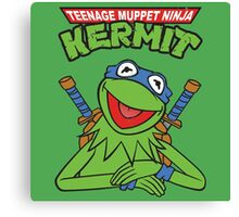 Teenage Muppet Ninja Kermit Canvas Print