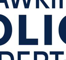 Hawkins Indiana Police Dept. Sticker