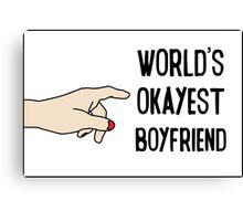 Cool Funny Gift Design For Best Okeyest Boyfriends Canvas Print