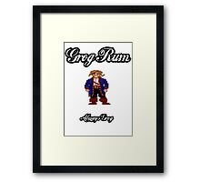 Monkey Island Grog Rum Framed Print