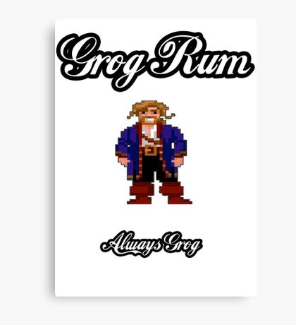 Monkey Island Grog Rum Canvas Print