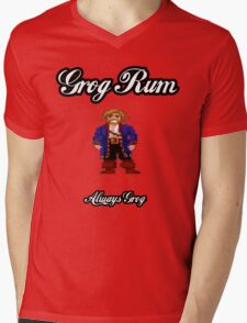 Monkey Island Grog Rum Mens V-Neck T-Shirt