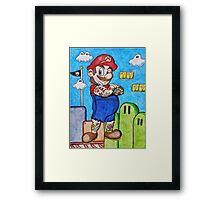 Tattooed Mario Framed Print