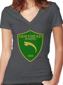 Holyhead Harpies Women's Fitted V-Neck T-Shirt
