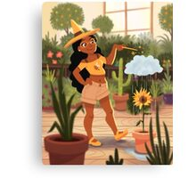 Bumble Bee Witch Canvas Print