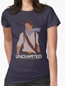 Uncharted - Minimalist Art Womens Fitted T-Shirt