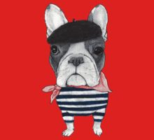 French Bulldog in front of Arch de Triomphe. Kids Clothes