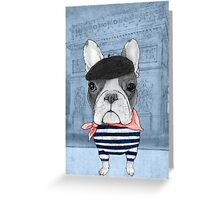 French Bulldog in front of Arc de Triomphe. Greeting Card