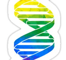 Rainbow Double Helix Sticker