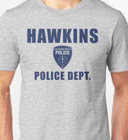 Hawkins Indiana Police Department Shield Unisex T-Shirt