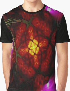 Seeing Through Stain Glass Graphic T-Shirt