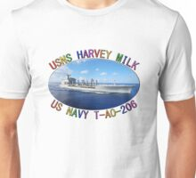 USNS HARVEY MILK T-AO-206 NAVY OILER Unisex T-Shirt