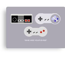 NES 2 Controller - Has Your Eyes Canvas Print