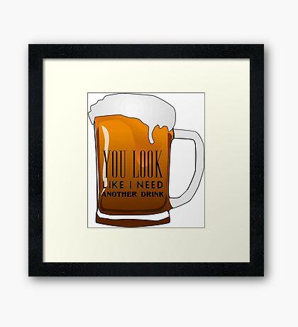 Funny Cool Flirting Pick Up Drunk Joking Design Framed Print