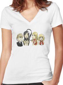 Soul Eater girls Women's Fitted V-Neck T-Shirt