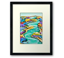 Watching the water flow Framed Print