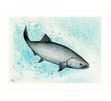 Salmon Splash ~ Watercolor Art Print