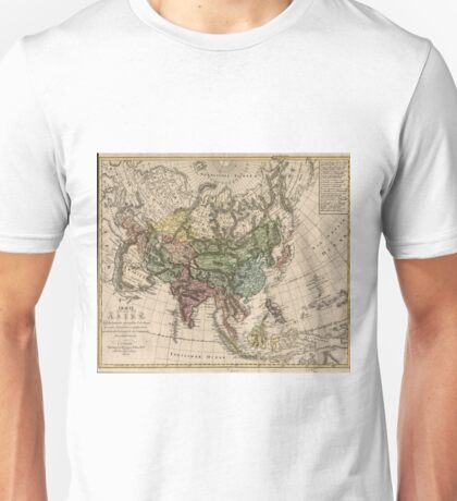 Vintage Map of Asia (1805) Unisex T-Shirt