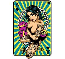 Tattooed Game Pin-Up Girl V1 Photographic Print