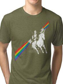 Obama Unicorn Rainbow Pride Tri-blend T-Shirt