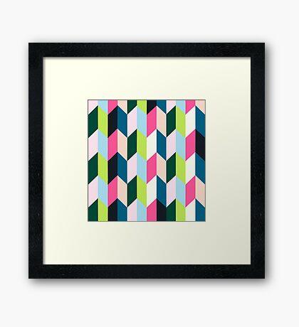 Playful lines Framed Print