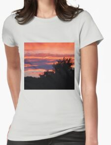Behind The Trees Womens Fitted T-Shirt