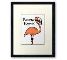 Bondage Flamingo Framed Print