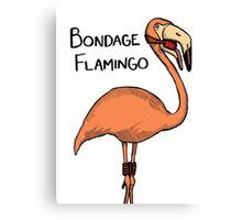 Bondage Flamingo Canvas Print