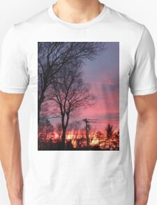 Winter Morning Sunrise  Unisex T-Shirt