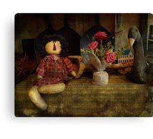 Primitive doll Canvas Print