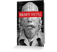 Heavy metal man piercings Greeting Card