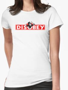 Monopoly Game Parody - Guy Fawkes Disobey Womens Fitted T-Shirt