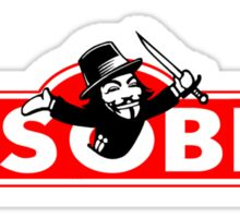 Monopoly Game Parody - Guy Fawkes Disobey Sticker