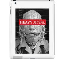 Heavy metal man piercings iPad Case/Skin