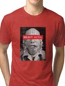 Heavy metal man piercings Tri-blend T-Shirt