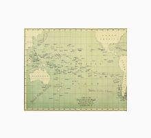 Vintage Map of The Pacific Ocean (1874) Unisex T-Shirt