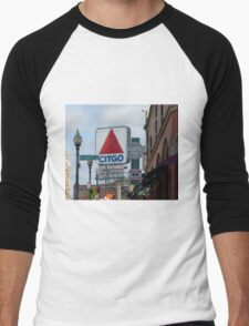 Citgo Sign At Fenway Park Men's Baseball ¾ T-Shirt