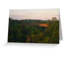 Natural Bridge Sunrise Greeting Card