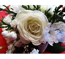 Roses & Pearls Photographic Print